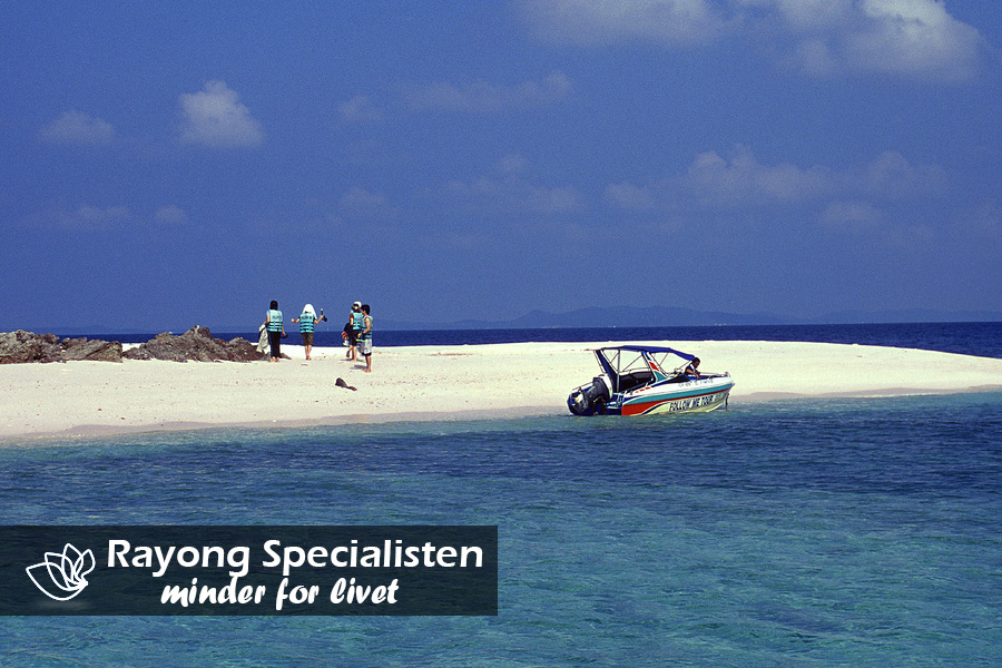 Perfekte strande som ikke er overbefolket med tourister i Rayong
