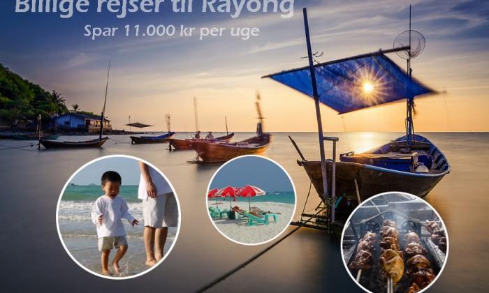 Billige rejser til Rayong – spar enten 22, 13 eller 7 tusind kr