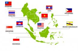 Kort over ASEAN landene