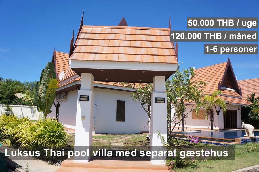 NR 21 R7 Oriental Thai Pool Villa 1 floor with guest house