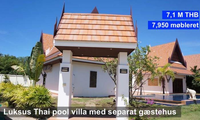 NR 21 R7 Oriental Thai Pool Villa 1 floor with guest house